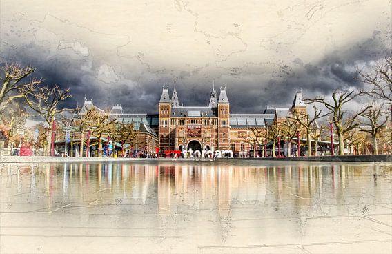 Amsterdam Museumplein van Peter Roder
