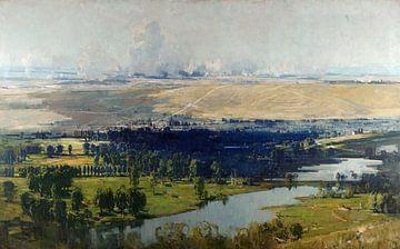 Arthur Streeton~Das Somme-Tal bei Corbie