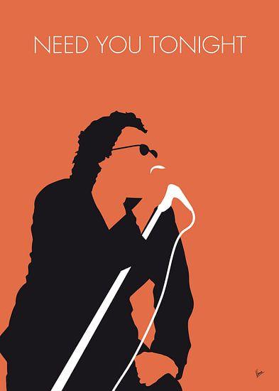 No033 MY INXS Minimal Music poster van Chungkong Art
