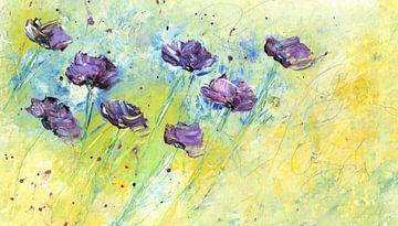 Sommerblumenwiese van Katarina Niksic