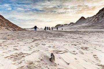 Wandelaars in het duinlandschap van Terschelling von Evert Jan Luchies