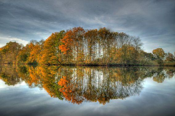 Spiegelbeeld landschap van Rando Kromkamp