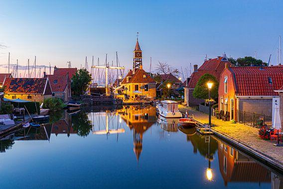 Stadsgezicht Hindeloopen in  Friesland Nederland