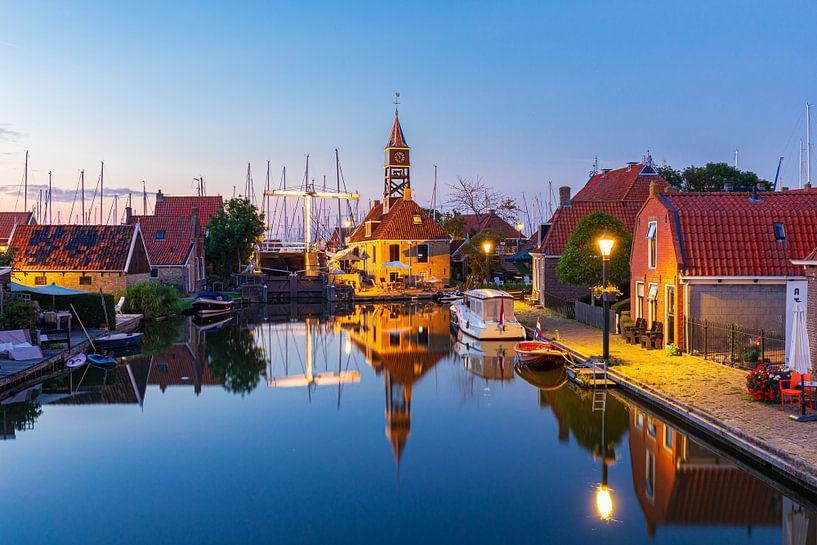 Stadsgezicht Hindeloopen in  Friesland Nederland van Hilda Weges