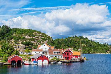 Vue du village de Farestad en Norvège