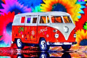 VW Bus Flowerpower-Style - Foto & Digitale Bearbeitung Jean-Louis Glineur