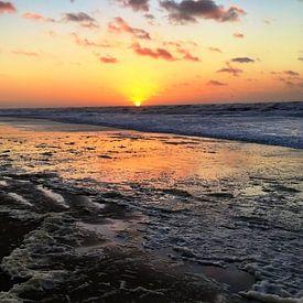 Sunset at Zandvoort van Toekie -Art