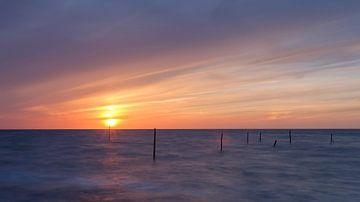 Magische zonsondergang van Koos de Wit