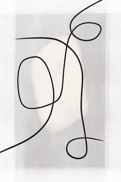 Moderne abstrakte Kunst - Linien 2 von Studio Malabar