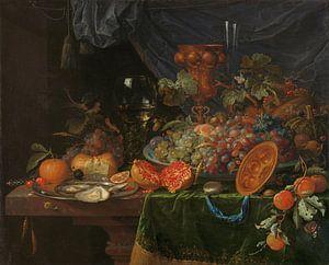 Stilleven met vruchten en oesters, Abraham Mignon