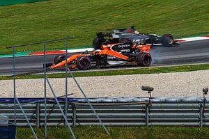 Fernando Alonso in actie tijdens de Grand-Prix van Oostenrijk 2017 van