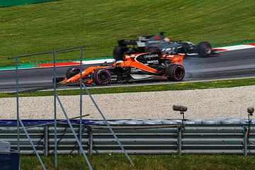 Fernando Alonso in actie tijdens de Grand-Prix van Oostenrijk 2017 sur Justin Suijk