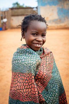 Portret Afrikaans meisje van Ellis Peeters