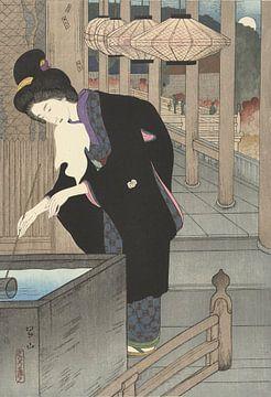 Een bezoek aan de Kiyomizu tempel van Miki Suizan, 1925