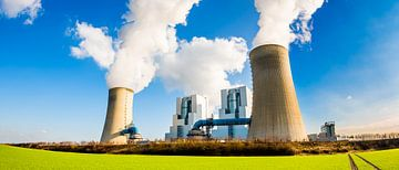 Moderne bruinkoolcentrale van Günter Albers