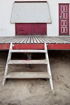 Pavillon de plage fermé sur Peter de Kievith Fotografie