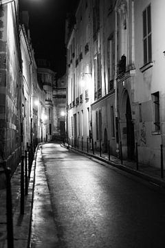 Nacht fotografie, Rue Aubriot Parijs van Anouk Boonstra