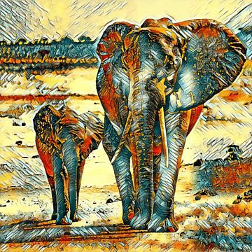 AnimalArt_Elephant_001_by_JAMFoto van Angelika Möthrath