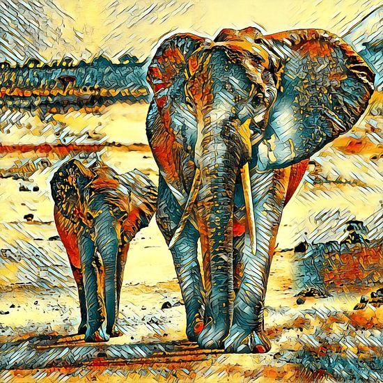 AnimalArt_Elephant_001_by_JAMFoto