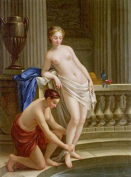 Zwei Frauen in der Badewanne - Joseph-Marie Vien von Atelier Liesjes