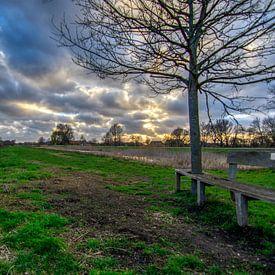 Bankje aan de rand van Westbroek. van Robin Pics (verliefd op Utrecht)