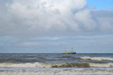 Fischerboot bei Texel von Barbara Brolsma