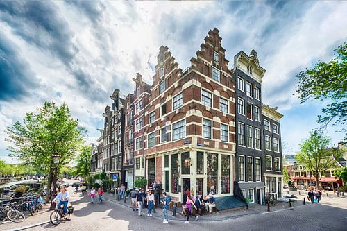 Die schönsten Kanalhäuser der Brouwersgracht in Amsterdam von Amsterdam Fotografie (Peter Bartelings)
