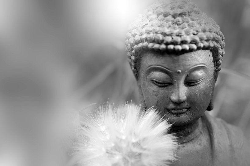 Meditation en noir et blanc van Martine Affre Eisenlohr