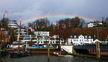 Ovelgönne  mit Regenbogen