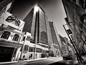 Schwarzweiss-Fotografie: Toronto - Yonge Street von Alexander Voss