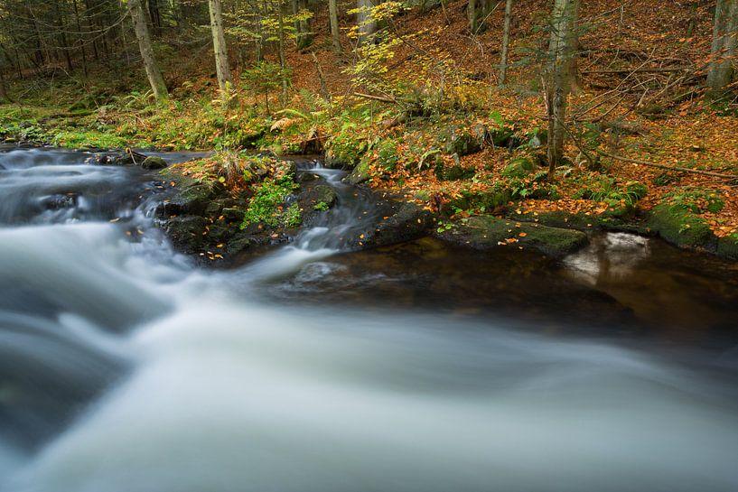 Prachtige waterval in het Bayerischer Wald, Duitsland. van Rob Christiaans