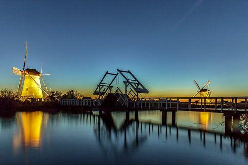 Verlichte molens Kinderdijk - 3