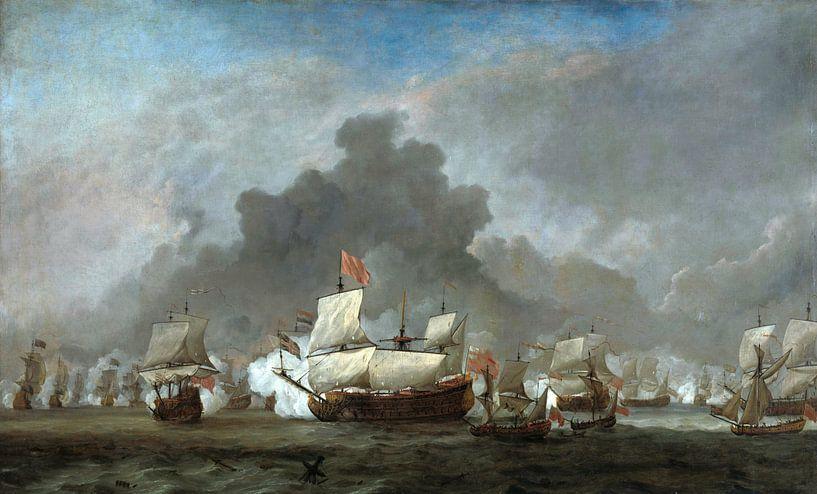Het gevecht van Michiel Adriaensz de Ruyter tegen de hertog van York op de 'Royal Prince' van Meesterlijcke Meesters