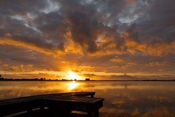 Sonnenaufgang Reeuwijkse plassen von Leo Kramp Fotografie