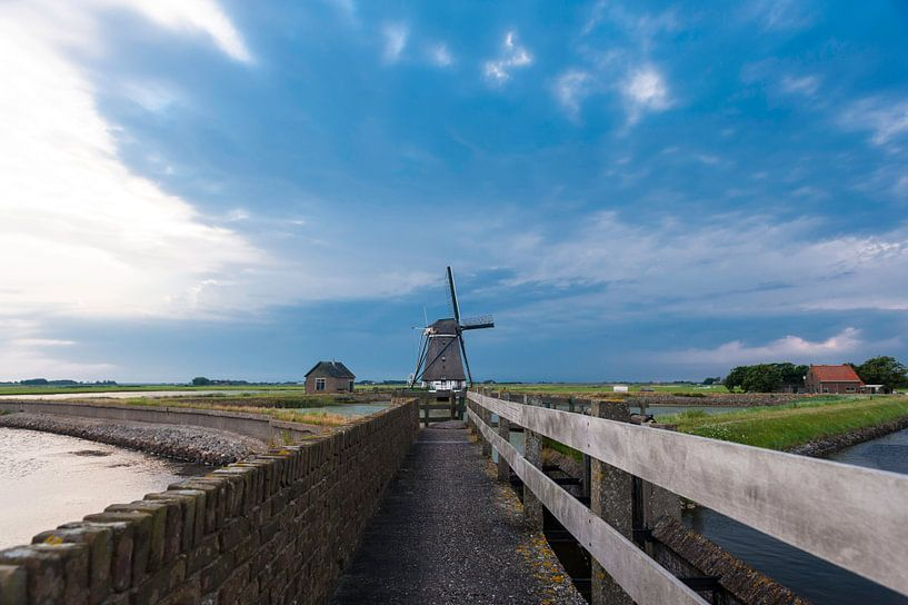 Windmolen op  Texel van Brian Morgan