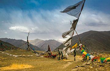 Dramatische lucht in de vallei der koningen, Tibet van Rietje Bulthuis