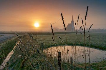 Zonsopkomst Kerk Den Hoorn Texel