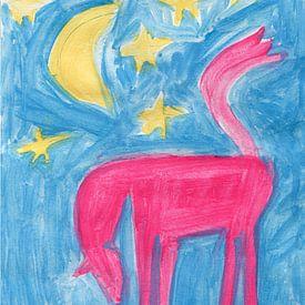 Pferd, Mond und Sterne von Ivonne Sommer