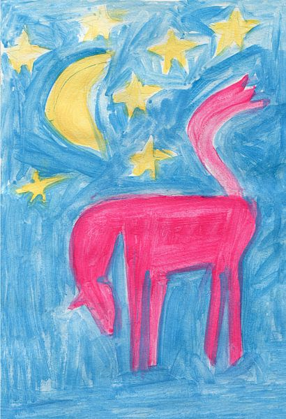 paard, maan en sterren van Verbeeldt