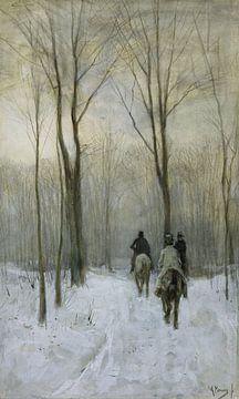 Reiter im Schnee des Waldes von Den Haag – Anton Mauve von Rebel Ontwerp