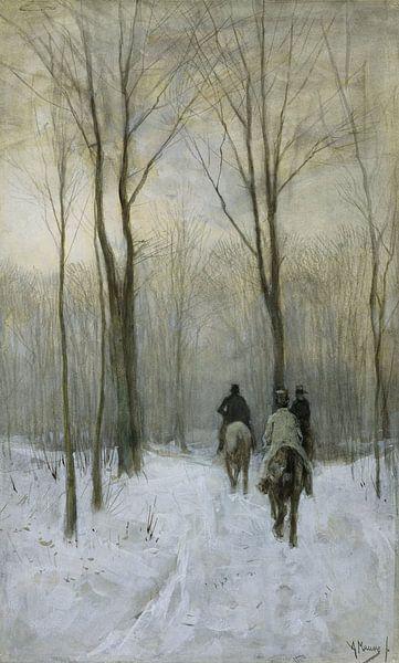 Ruiters in de sneeuw in het Haagse Bos van Rebel Ontwerp