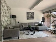 Kundenfoto:  Italien im quadratischen Schwarzweiss, Toskana von Teun Ruijters, auf alu-dibond