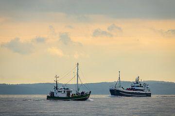 Ships on the Baltic Sea van Rico Ködder