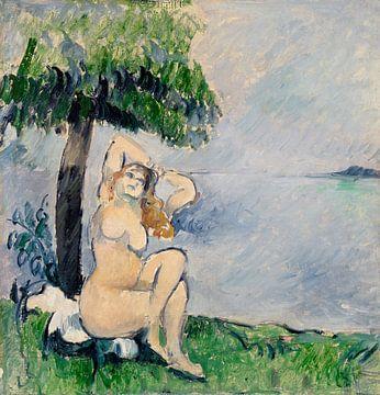 Badende Frau am Meer, Paul Cézanne (ca.1875) von Atelier Liesjes