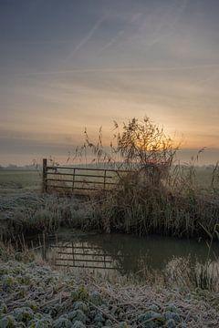 Zaun in der Wiese von Moetwil en van Dijk - Fotografie
