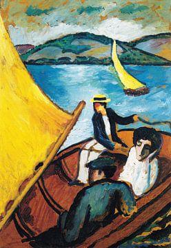 Segelboot auf dem Tegernsee, August Macke, - 1910 von Atelier Liesjes