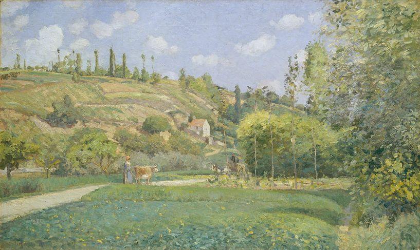 Een Cowherd bij Valhermeil, Auvers-sur-Oise, Camille Pissarro van Meesterlijcke Meesters