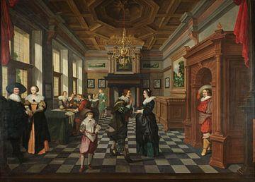 Siebenteilige sequenz: Ein Interieur, Dirck van Delen