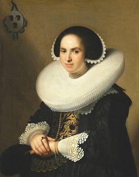 Portret van Willemina van Braeckel, Johannes Cornelisz Verspronck, Johannes van Braeckel
