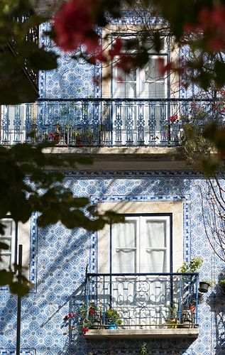 Huis met balkon in Lissabon